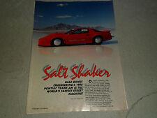 1988 PONTIAC TRANS AM article / ad