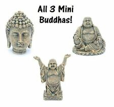 Buddha Aquarium Ornament Set of 3 - Mini - 2 in - Penn Plax