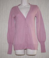 LUXE ARDEN B Cashmere Dust Pink Button Cardigan Women Sweater Size:S