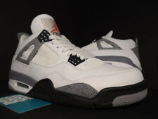 NIKE AIR JORDAN IV 4 RETRO WHITE CEMENT GREY BLACK FIRE RED OG 308497-103 8.5