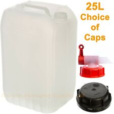 25 Litre 25L Jerry Can Water / Fuel Container Food Safe Tamper Caps or Tap Caps