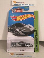 McLaren P1 #223 * SILVER * 2015 Hot Wheels * J19