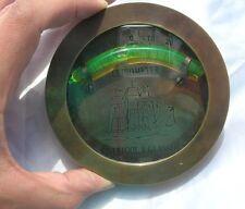 Inclinometro Liverpool rotondo con bolla misura pendenza piano longitudine antic