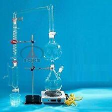Essential oil steam distillation apparatus kit, Coil Condenser lab