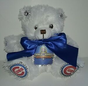 Chicago Cubs World Series Custom Teddy Bear #1