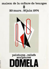 Affiche ancienne  vintage exposition MBC Bourges DOMELA. 1973