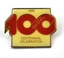 COCA-COLA COKE EE.UU. Solapa Pin PIN BADGE Broche - 100 Celebration 1986