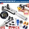 Watch Case Opener Watchmaker Screw Cover Remover Wristwatch Repair Tool Kit US