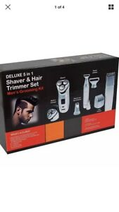 Men's Cordless Rechargeable Grooming Set Shaver & Hair Clipper Beard Trimmer 5n1