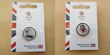 2016 Rio Olympics Team GB Pin Badges - Pride Lion Gymnastics Rugby Pins