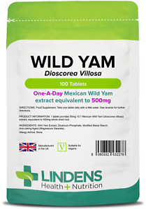 Mexican Wild Yam 500mg Tablets <Diosgenin> (100 pack)  [Lindens 2278]