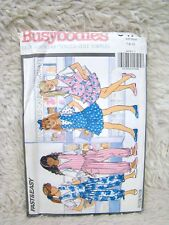 Butterick Busybodies #5476 Sewing Pattern, Girls' Jumpers and Jump Suits, Uncut