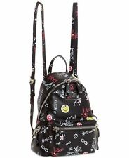 NEW!  Authentic GUESS Cool School Black Printed Small Backpack FUN DESIGN