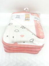 Baby Girls' 4pk Burp Cloth Set - Just One You® made by carter's Pink