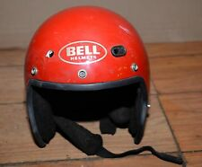 Vintage Bell Spirit Helmet open face collectible Large L motorcycle red DOT USA