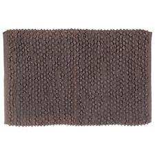 Tappeto Malibu marrone in cotone 100% 60x90 cm arredo bagno moderno