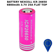 BATTERY NEXCELL ICR 26650 6800mAh 25A 3.7v BATTERIA FLAT TOP LITHIUM RECHARGE