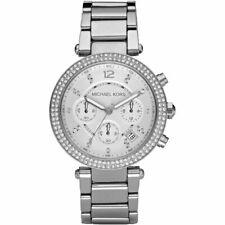 Michael Kors MK5353 Parker Silver Chronograph Glitz Stainless 39mm Women's Watch