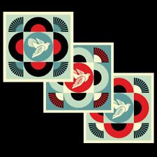 Shepard Fairey (OBEY) - Geometric Dove - Triptyque - SIGNED Open Edition - 2021