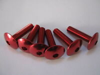M 6 x 20 mm button head socket cap bolt, red anodised