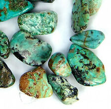 6x8mm-12x16mm Natural Afghani Turquoise Gemstone Flat Nugget Beads 15""