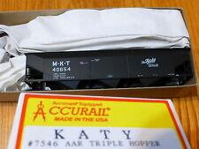 Accurail HO #7546 Katy AAR Triple Hopper 70-Ton Offset Rd #40654