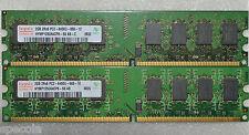 4 GB DDR2-800 PC2-6400 U 666-12 HYNIX 2X2GB NONECC PC MEMORY MHZ  240 PIN