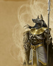 """A4 Poster - The Egyptian God of the Dead """"Anubis"""" (Mythological Fantasy Picture)"""