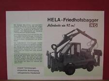 Original alter HELA LANZ Spezial-Friedhofsbagger NG Bagger Prospekt