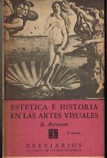 Bernard Berenson Estetica E Historia En Las Artes Visuales FCE Breviarios 115