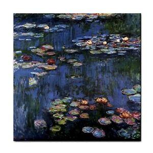 Monet Water Lilies Ceramic Tile Art Decorative Backsplash Border Coaster
