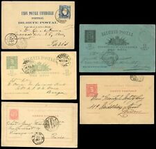 PORTUGAL STATIONERY 1886-1902...5 CARDS...USED