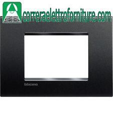 BTICINO LIVINGLIGHT placca quadra 3 moduli antracite LNA4803AR