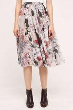 NWT SZ M $178 ANTHROPOLOGIE FLOWERFUL SKIRT BY VARUN & NIDHIKA FEMININE & COMFY