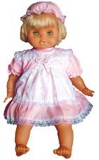 Süßes Baby-Kleid, 2tlg., m. Slip u. Mütze, rosa, Gr. 74