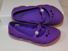 CROCS Childs C9 Kids 9 Purple Lilac Mary Janes Slip on Rubber Shoes