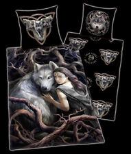 Anne Stokes Wolf Bettwäsche - Soul Bond - Fantasy Bettzeug Elfe mit Wolf