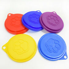 5Pcs Plastic Dog Pet Food Cat Can Tin Cover Lid Wet Food Kitchen Storage Covers