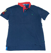 Polo Ralph Lauren Mens Indian Custom Fit Mesh Short Sleeve Shirt Navy Red Large