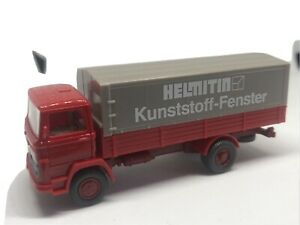 "Wiking HO 1/87 Truck Mercedes-Benz 1317 ""Helmitin Kunststoff Fenster"" Bright Red"