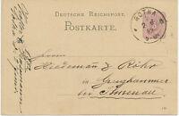 """DT.REICH """"GOTHA / 1"""" K1 5 Pfennig violett Kab.-GA-Postkarte Druckdatum 1 82 1882"""