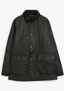 Barbour Bedale Wax Cotton Tartan Lined Jacket Coat Various Sizes BLACK