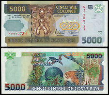 COSTA RICA 5000 COLONES (P268Aa) 1999 UNC