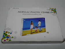 AMEITECH Acrylic Picture Frames, 4x6'' Clear Double Sided Block - NEW
