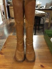 SCHULER & SONS PHILIDELPHIA WESTERN INSPIRED SUEDE  LEATHER KNEE HIGH SIZE 7 B