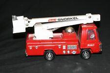 VINTAGE BUDDY L SNORKEL FIRE TRUCK PRESSED STEEL TOY COMPLETE