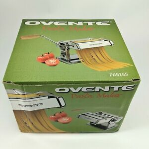 Ovente Stainless Steel Pasta Maker 150mm with Pasta Cutter Silver PA515S