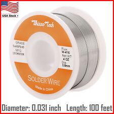 "60/40 Rosin Core Solder Wire with Flux Soldering Sn60 Pb40 Flux .031""/0.8mm 4oz"