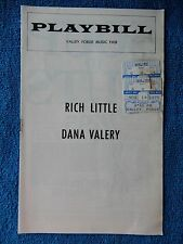 Rich Little - Valery - Valley Forge Playbill w/Ticket - November 14th, 1975