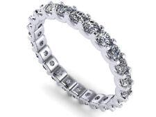 Band Ring 14k White Gold I Si2 0.85Ct Round Cut Diamond Shared U-Prong Eternity